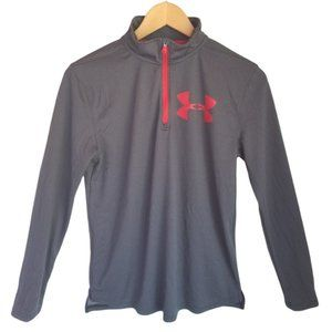 Under Armour Mock neck Long Sleeve  Pullover Athletic T Shirt YXL